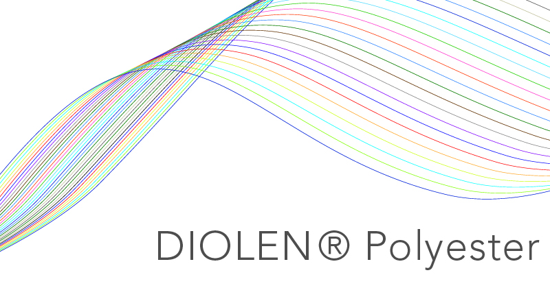 Diolen Polyester PES TWD Fibres Filament Chemiefasergarn